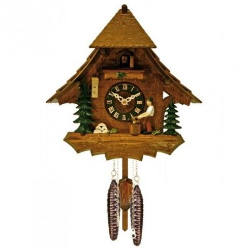 River City Clocks One Day Man Chops Wood Clock 356 99 Cuckoo