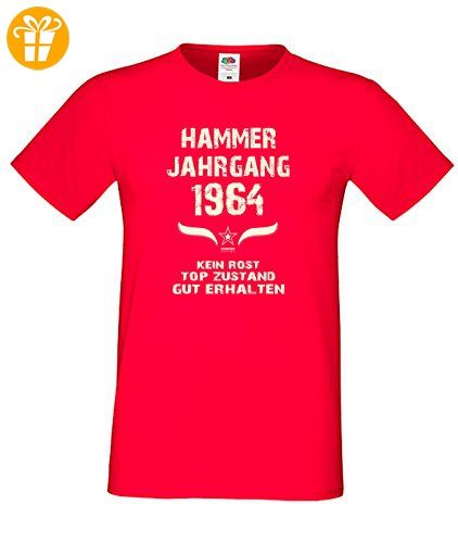 Sprüche Motiv Fun T-Shirt Geschenk zum 53. Geburtstag Hammer Jahrgang 1964  Farbe: schwarz blau rot grün braun auch in Übergrößen 3XL, 4XL, 5XL:  Amazon.de: ...
