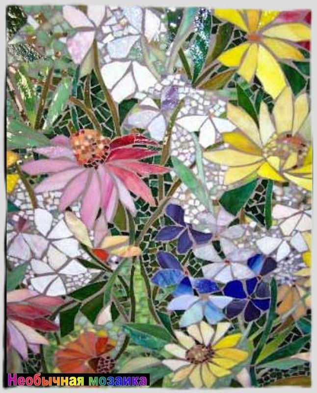 картинки мозаика цветы