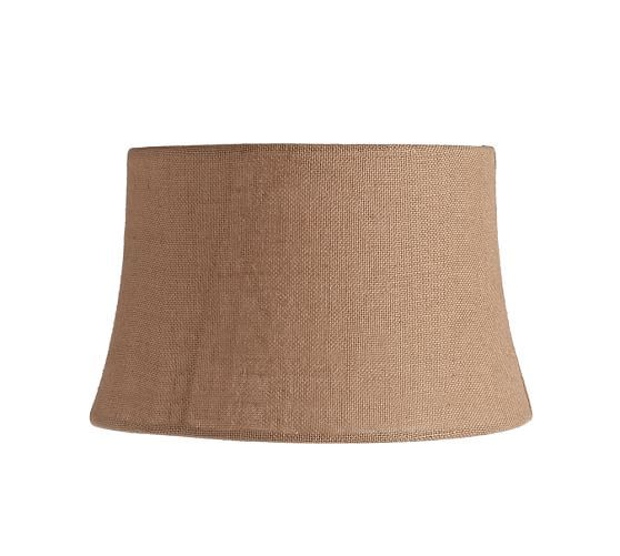 Burlap Upholstered Tapered Drum Lamp Shade | Pottery Barn