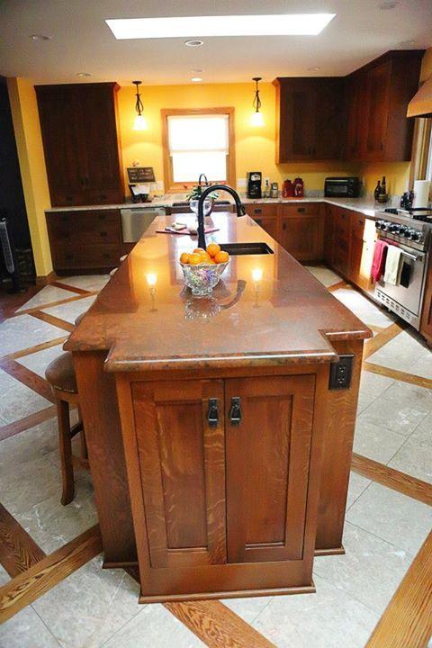 Long island, Quarter sawn oak cabinets | Kitchen, Home decor