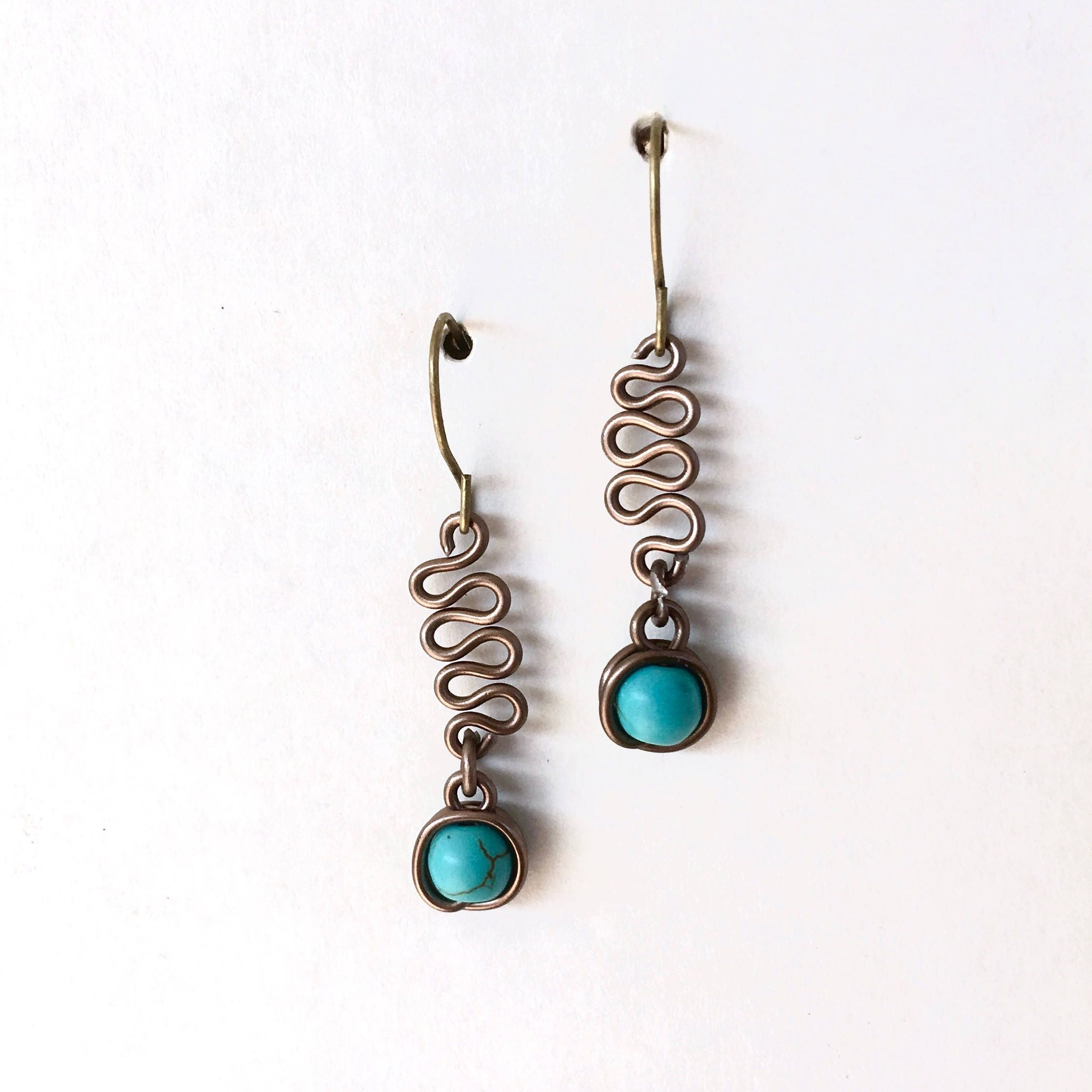 Serpentine and Turquoise Earrings | Jewelry ideas, Diy earrings ...