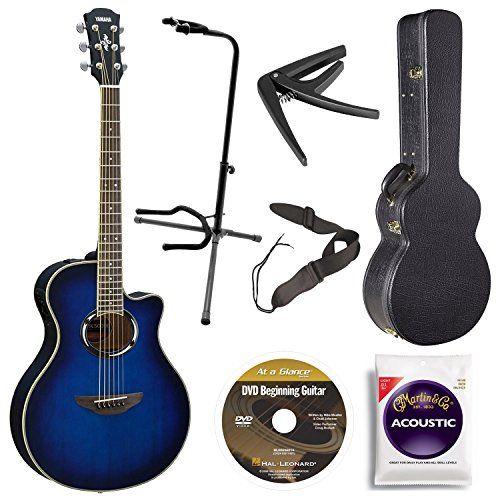 Yamaha Apx500iii Obb Thin Line Acousticelectric Cutaway Guitar Oriental Blue Bundle With Hardshell Guitar Case Guitar St Guitar Acoustic Electric Yamaha Guitar