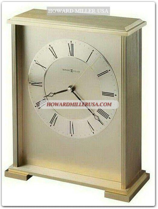 Howard Miller Brass Finished Tabletop Clock Desktop Clock