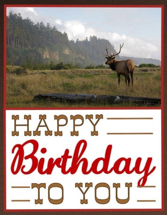 eceabc90c0e Western Happy Birthday - cowboy - mountains - deer - man birthday. Custom  Collage Birthday card - none like it! by Shelley