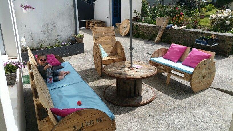 Salon de jardin en bois recyclé | palette forever | Meuble ...
