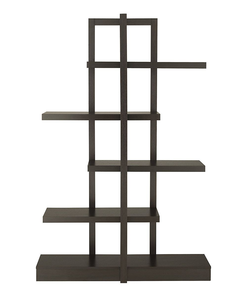 Look at this Cappuccino Talliah Open-Shelf Display Case on #zulily today!