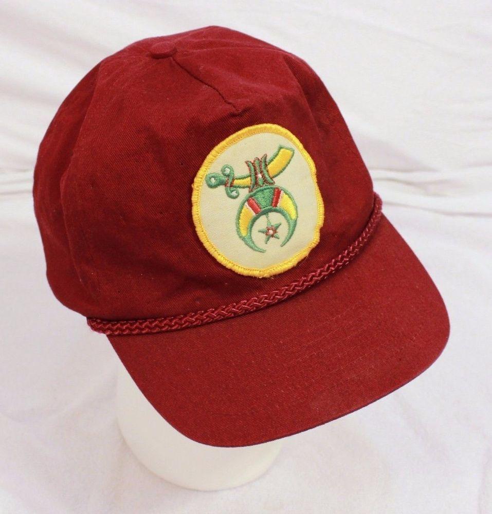 d85b62d4ae2 VTG Mystic Shriners Baseball Cap Hat Adjustable Snapback Ancient Arabic  Order