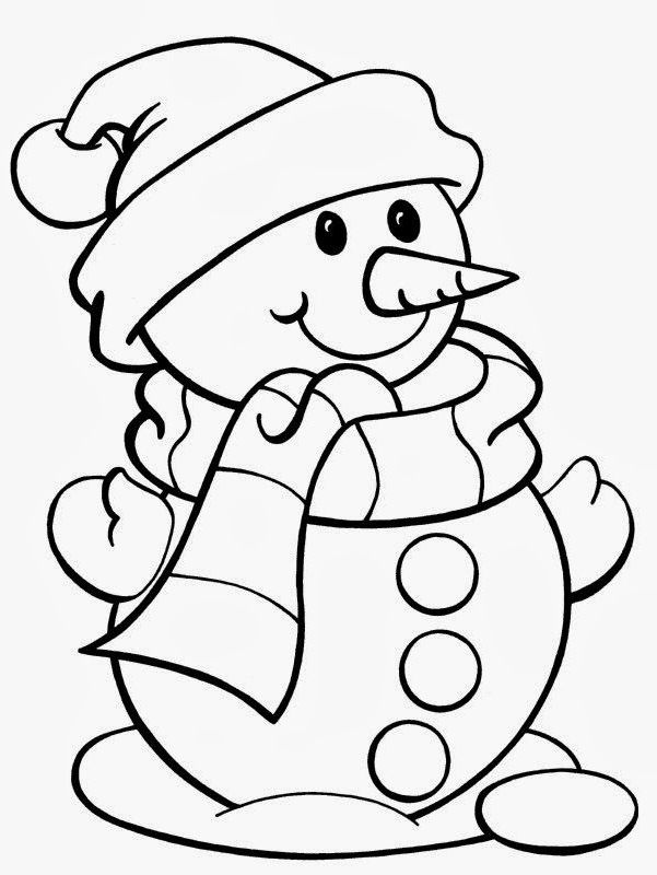 christmas full size coloring pages | Christmas Coloring Sheets | Coloring Page | Snowman ...