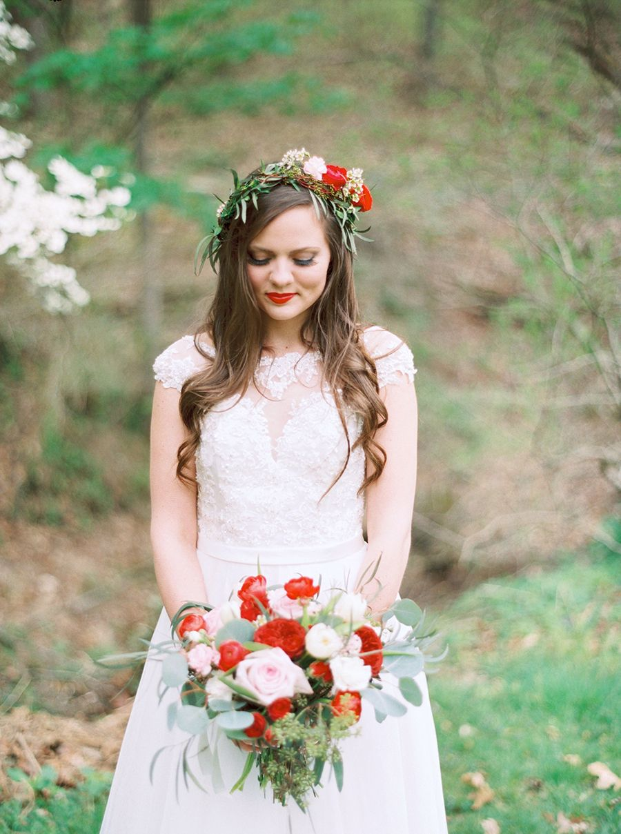 This colorful bohemian wedding will have you seeing red