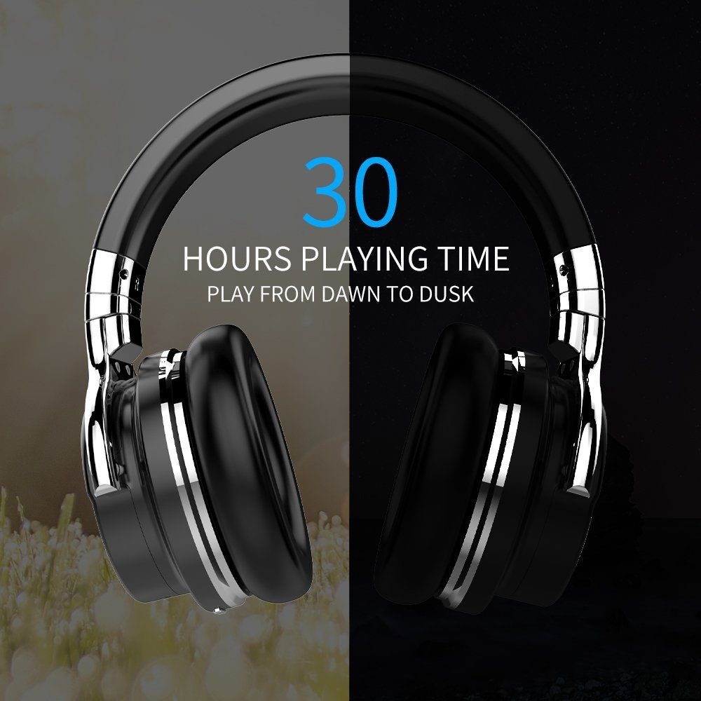 COWIN E7 Bluetooth Headphones with Microphone Hi-Fi Deep Bass