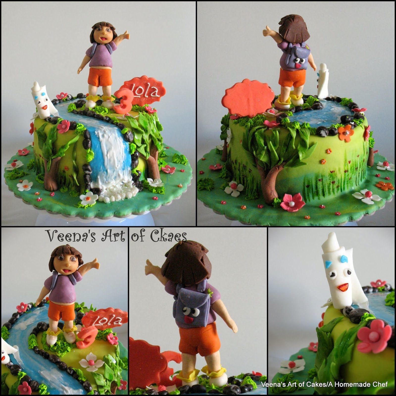 Los Modelos de azúcar video tutorial Dora Explorador + + Torta + ...