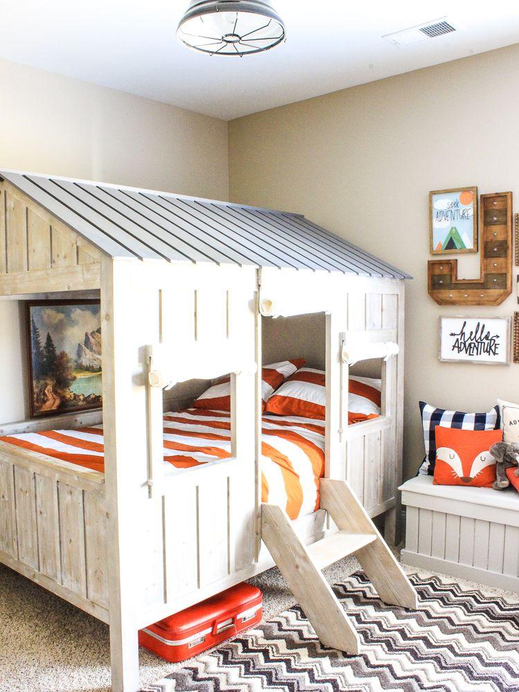 Rustic Adventure Room Kids Cabin Bed Diy Toddler Bed Cabin Beds For Kids Toddler Cabin Bed