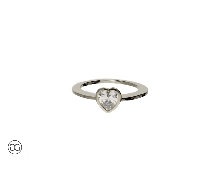 engagement ring solitär platin 950 diamond heart-cut  0,50ct