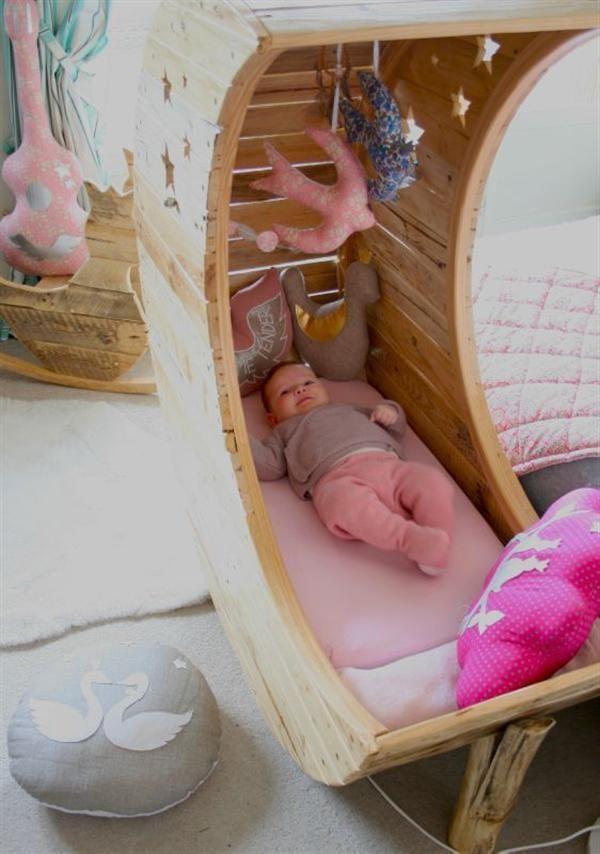 Cuna madera rustica . | Muebles para Niños | Pinterest | Cuna madera ...