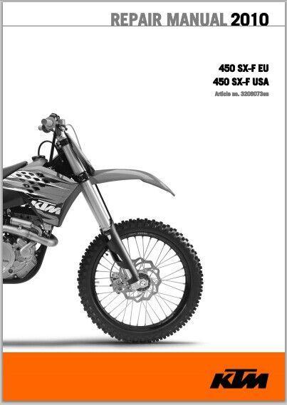 2010 ktm 450 sx f workshop service repair manual download pdf