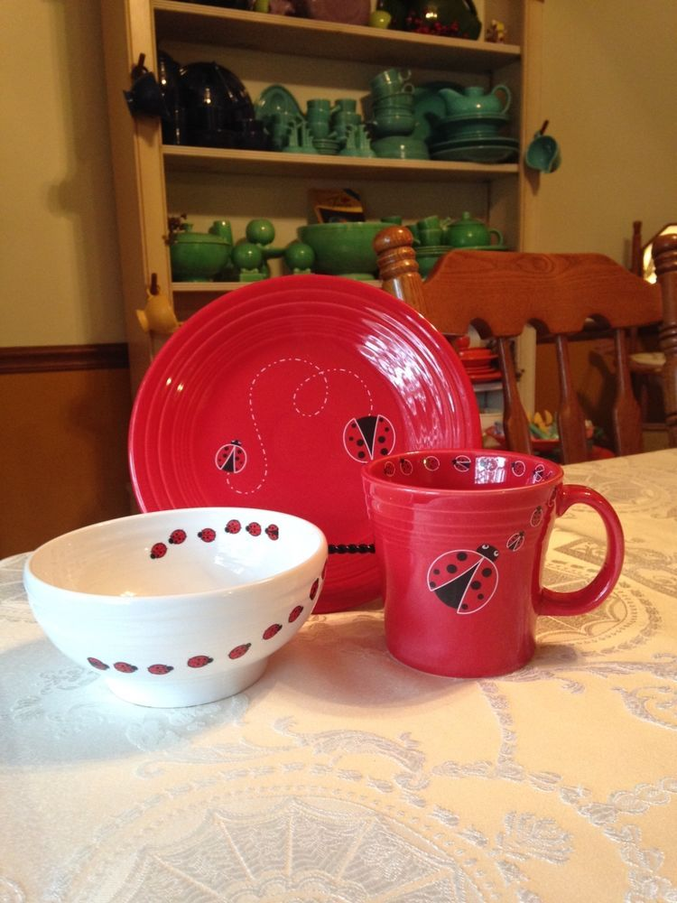 Fiesta® Dinnerware LADYBUG Collection made exclusively for Dillard\u0027s by Homer Laughlin China Company. Includes & Fiesta® Dinnerware LADYBUG Collection made exclusively for Dillard\u0027s ...