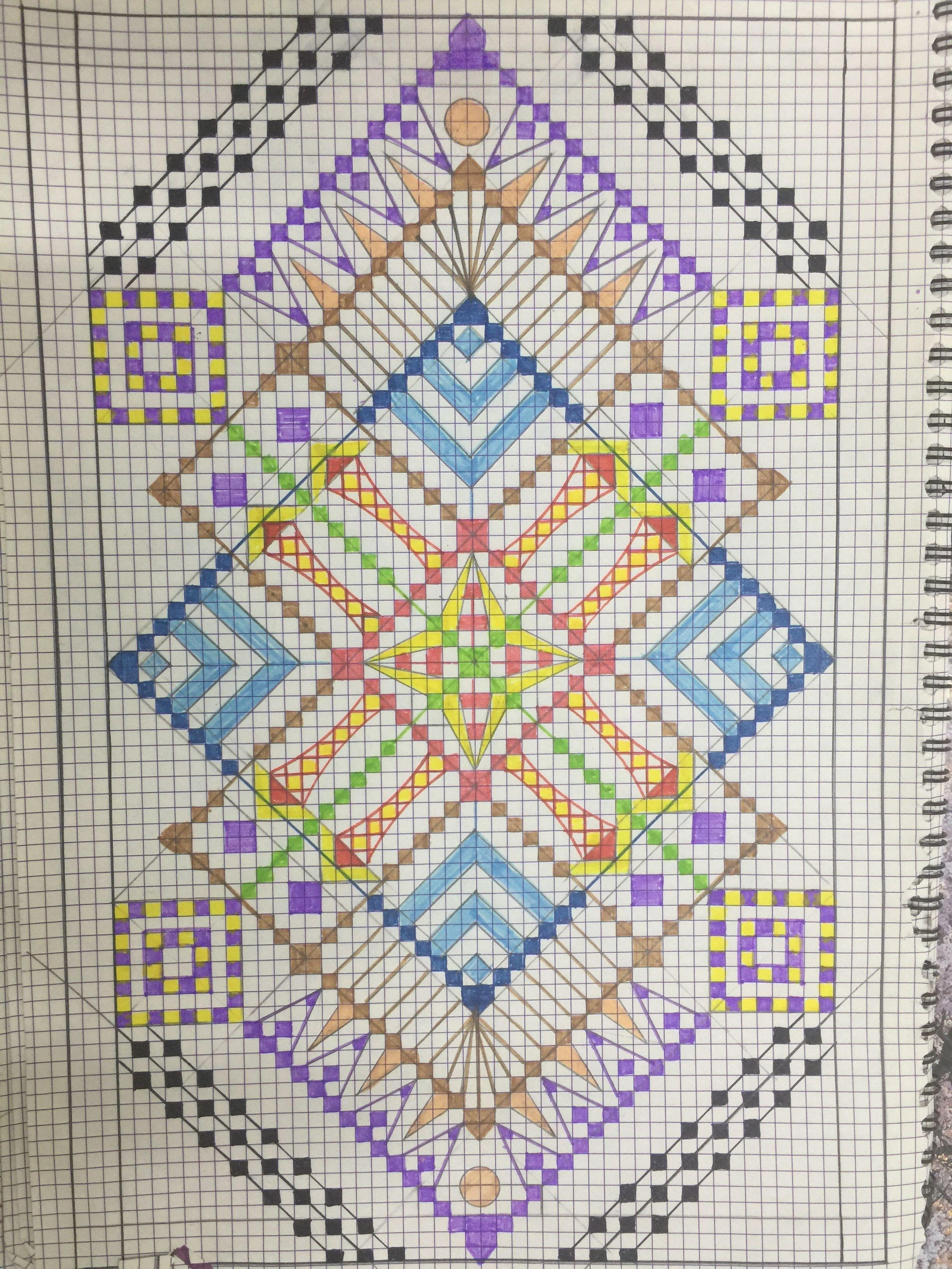 اشكال هندسية زخرفية Crochet Blanket Blanket Quilts