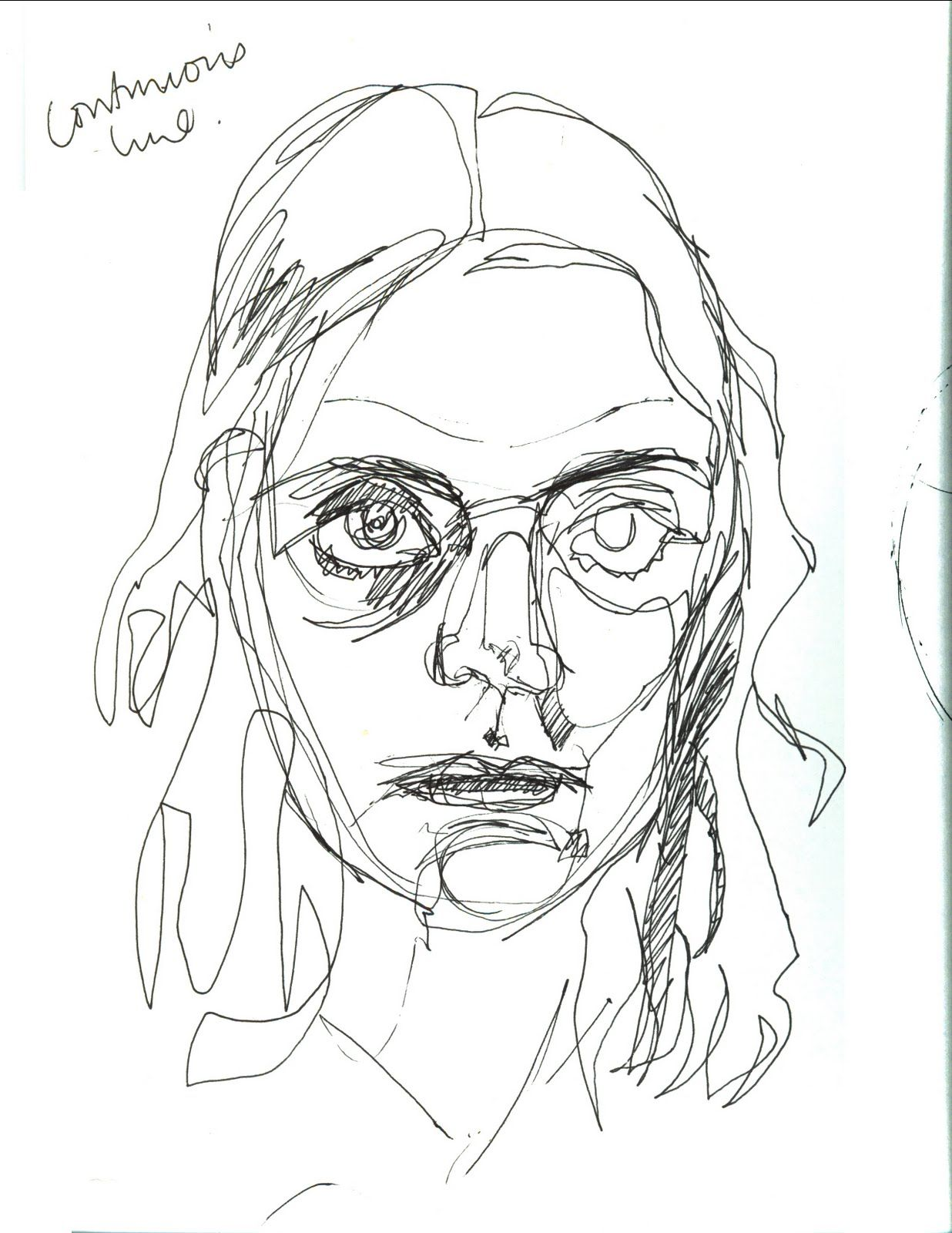 Continuous Contour Line Drawing : Continuous line drawing self portraits taking a for