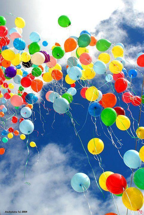 Up up and away! Where are these balloons floating off to? Who set