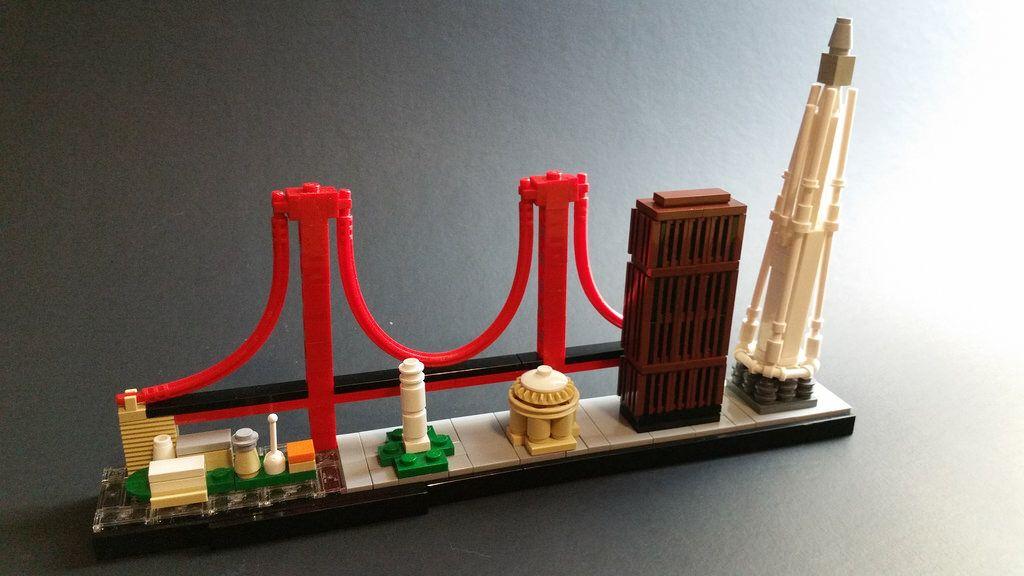 San Francisco Skyline Lego 174 Micro Builds Skyline