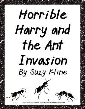 horrible harry coloring pages - basic comprehension questions for suzy kline 39 s horrible