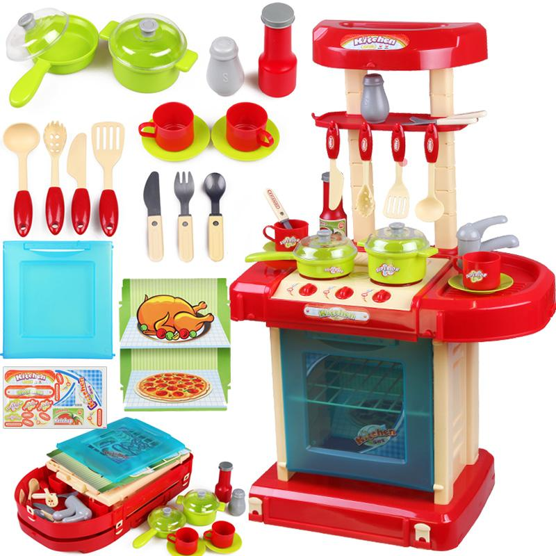 Hot child kitchen toys baby cooking toys Kitchen tableware ...