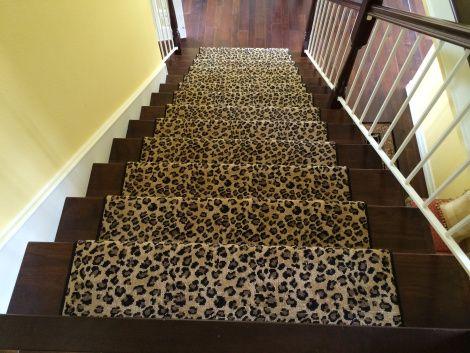 Best Leopard Animal Print Stair Runner Carpet Stairs Bedroom 400 x 300