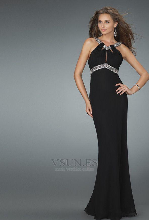 Vestidos de gala para mujeres sin cintura