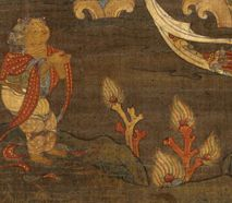 美国史密森博物馆:14世纪<wbr><wbr>韩国佛画<wbr><wbr>《观世音菩萨》