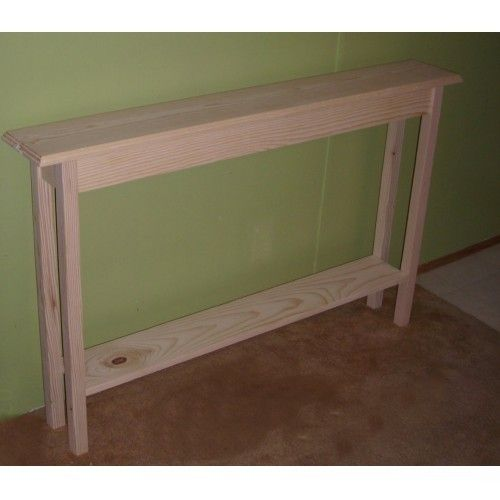 Mission Style Unfinished Narrow 48 Hall Sofa Couch Console Table