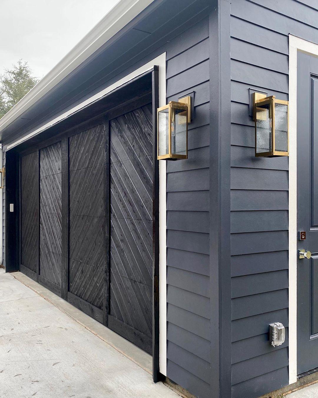 Ashley Dalton Interiors On Instagram Got All The Heart Eyes For Those Lights And Custom Garage Door In 2020 Custom Garage Doors Garage Doors Custom Garages