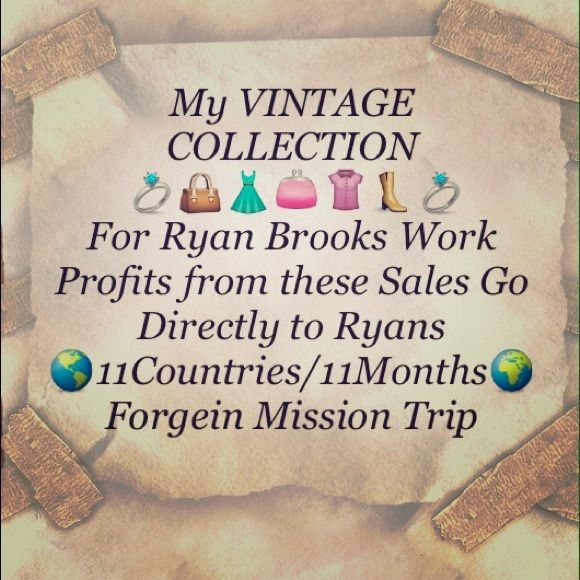 PLS READ $$ Help Ryan Brooks Mission Work Pix 2&3 My Daughter, Ryan Brook Miller, was Accepted for yet Another Forgein Mission Trip  It is a  11 Countries in 11 Months Trip  This Trip as You Can Imagine IS VERY EXPENSIVE ($16,000.00 just for the Trip) Ryan is Not Only a Forgein Missionary. She is Also a Full Time Student as well as Works 3 Jobs. As The Profits of These Sells Go Towards This Mission Trip I have a no return policy Vintage Jewelry