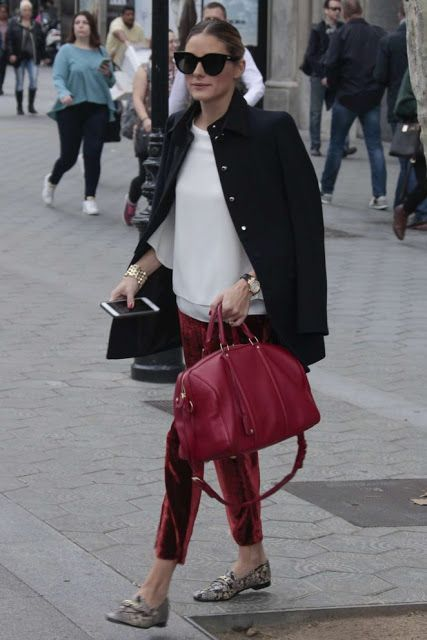 Olivia Palermo out in Barcelona