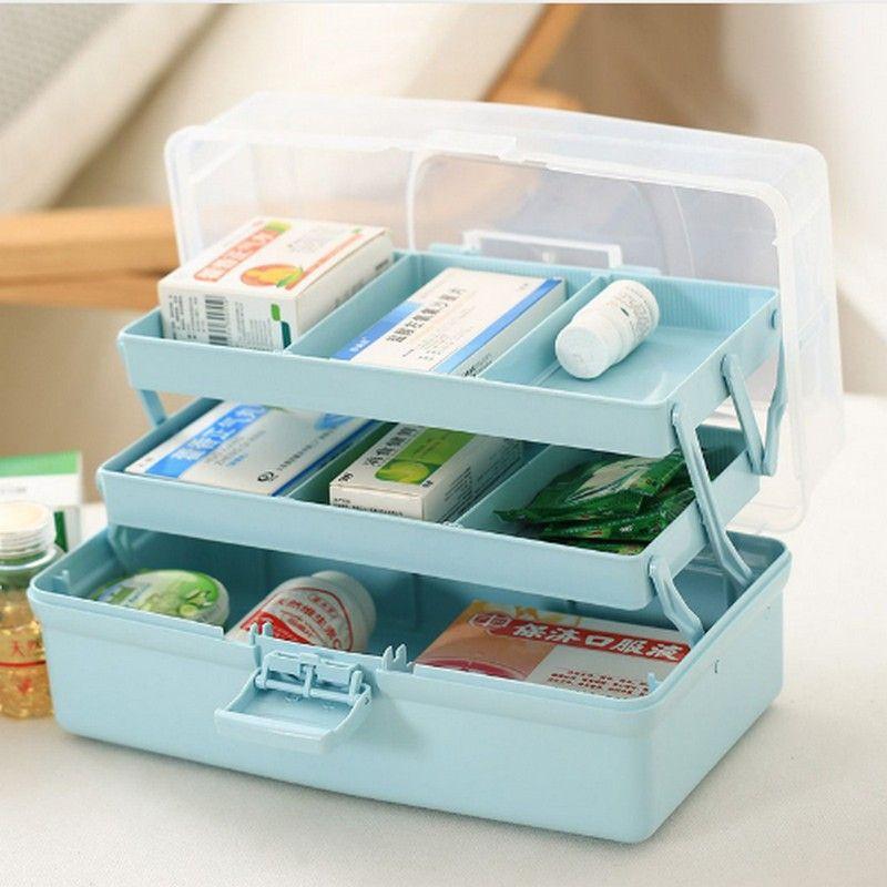 Plastic 3 Layer Medical Kit Portable Medicine Box Family Expenses First Aid Kit Medicine Box Child Baby Drug Medicine Boxes Medication Storage Medicine Storage