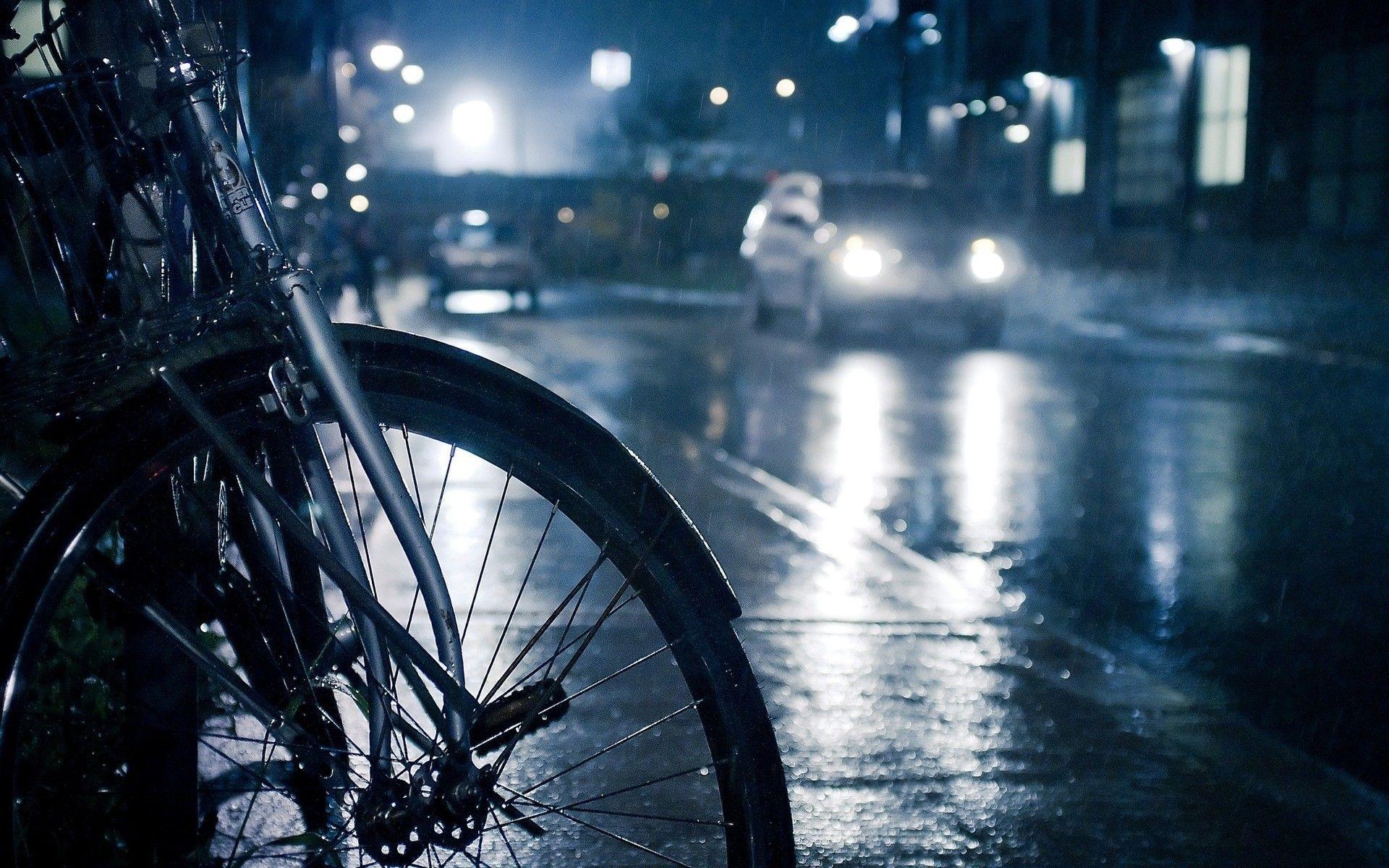 Hd wallpaper rain - Rainy Day And Bicycle Wallpaper Hd Wallpaper Wallpaperlepi