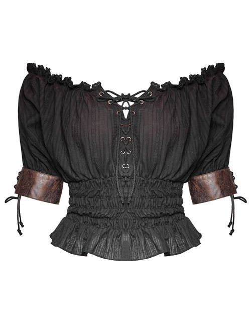 PUNK RAVE EMMALINE TOP - BLACK