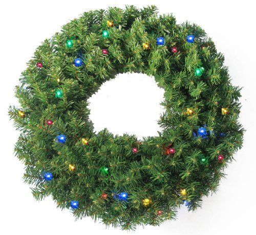 """BESTSELLER! 24"""" Pine Wreath 250 tips and 50 Conca... $19.95"""