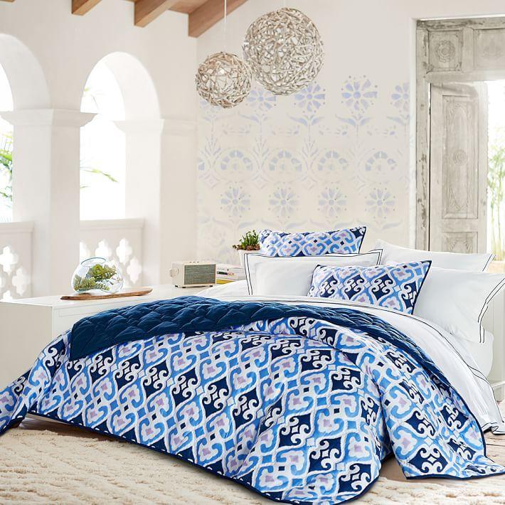 Gemma Ikat Sateen Quilt + Sham | mine | Pinterest | Products and Quilt : sateen quilt - Adamdwight.com