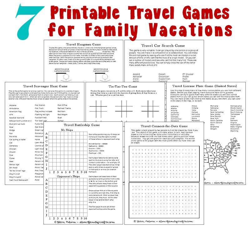 Travel Games Free Printable Use Dry Eraser Markers And Slip