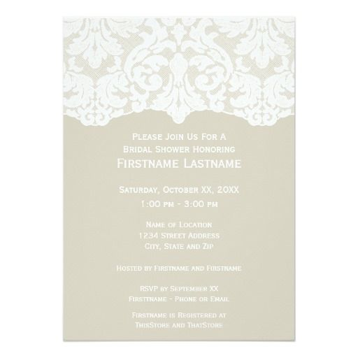 This Deals Modern Lace Bridal Shower or Engagement Party 5x7 Paper - invitation template online