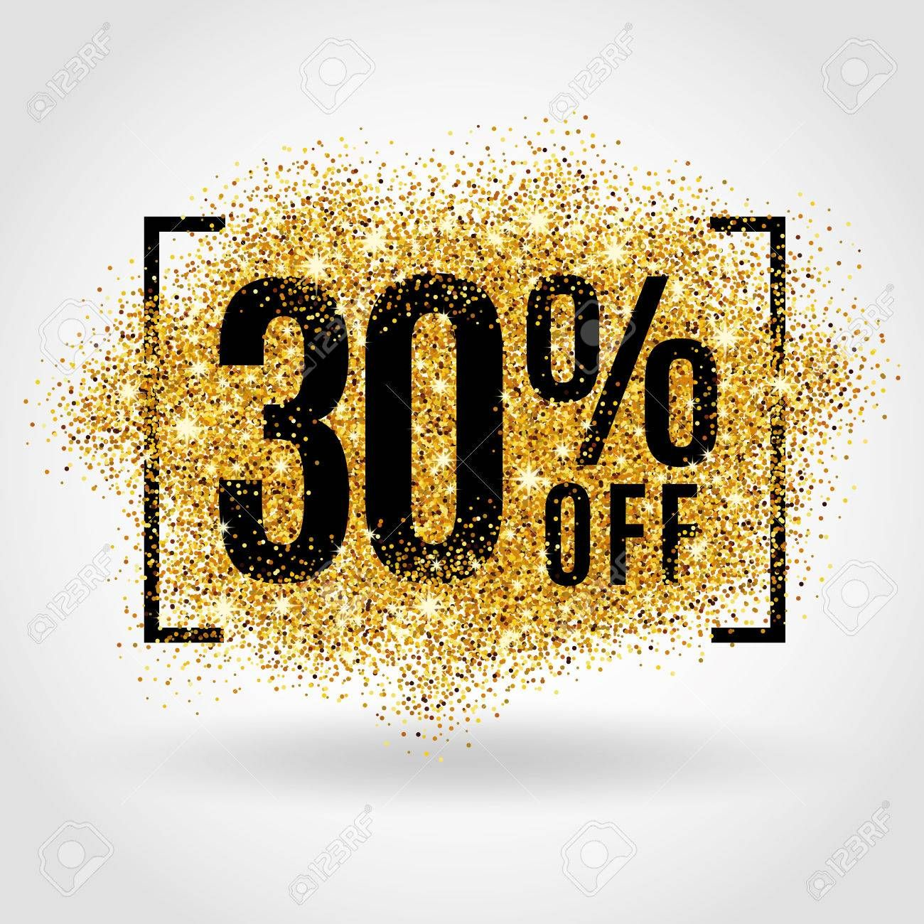 Gold Sale 30 Percent On Gold Background Gold Sale Background For