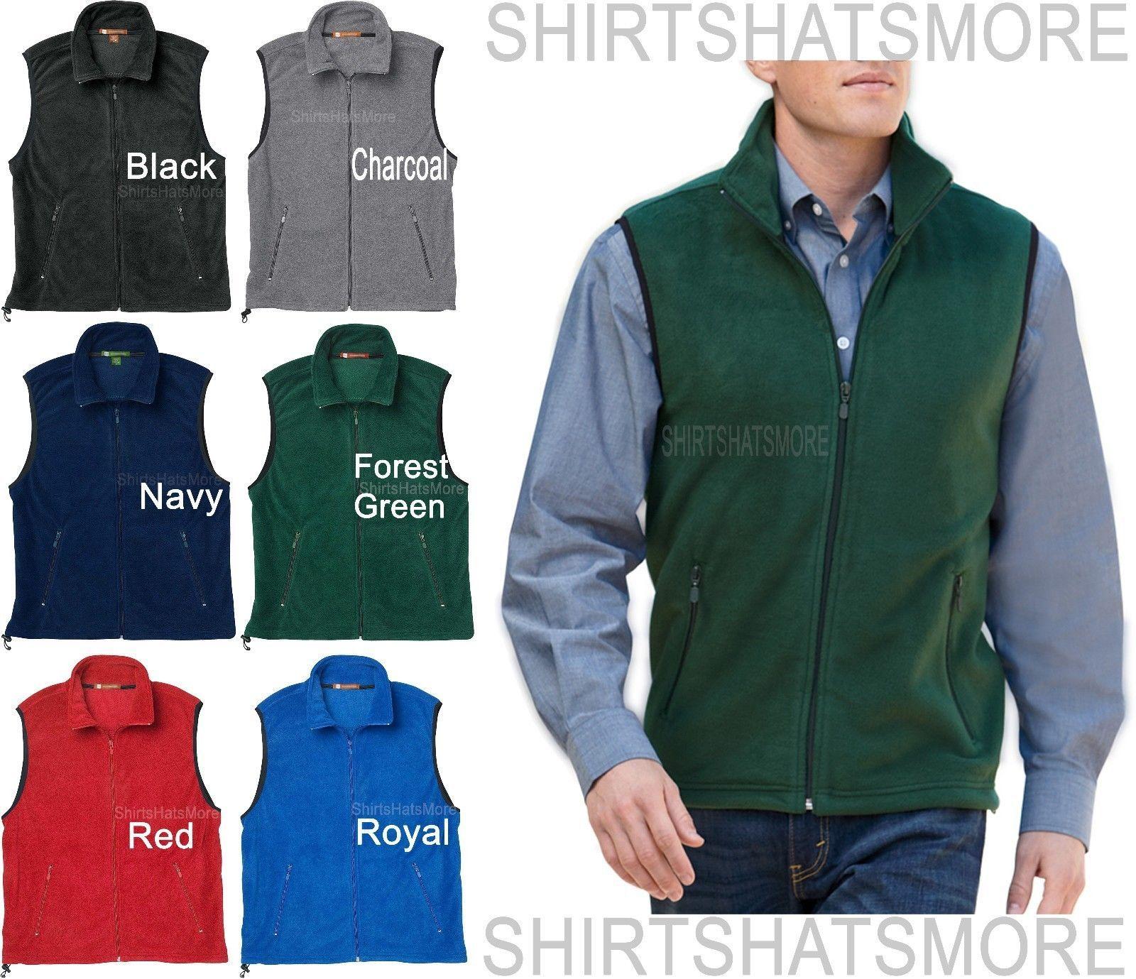 Vests mens soft polar fleece vest sleeveless jacket warm
