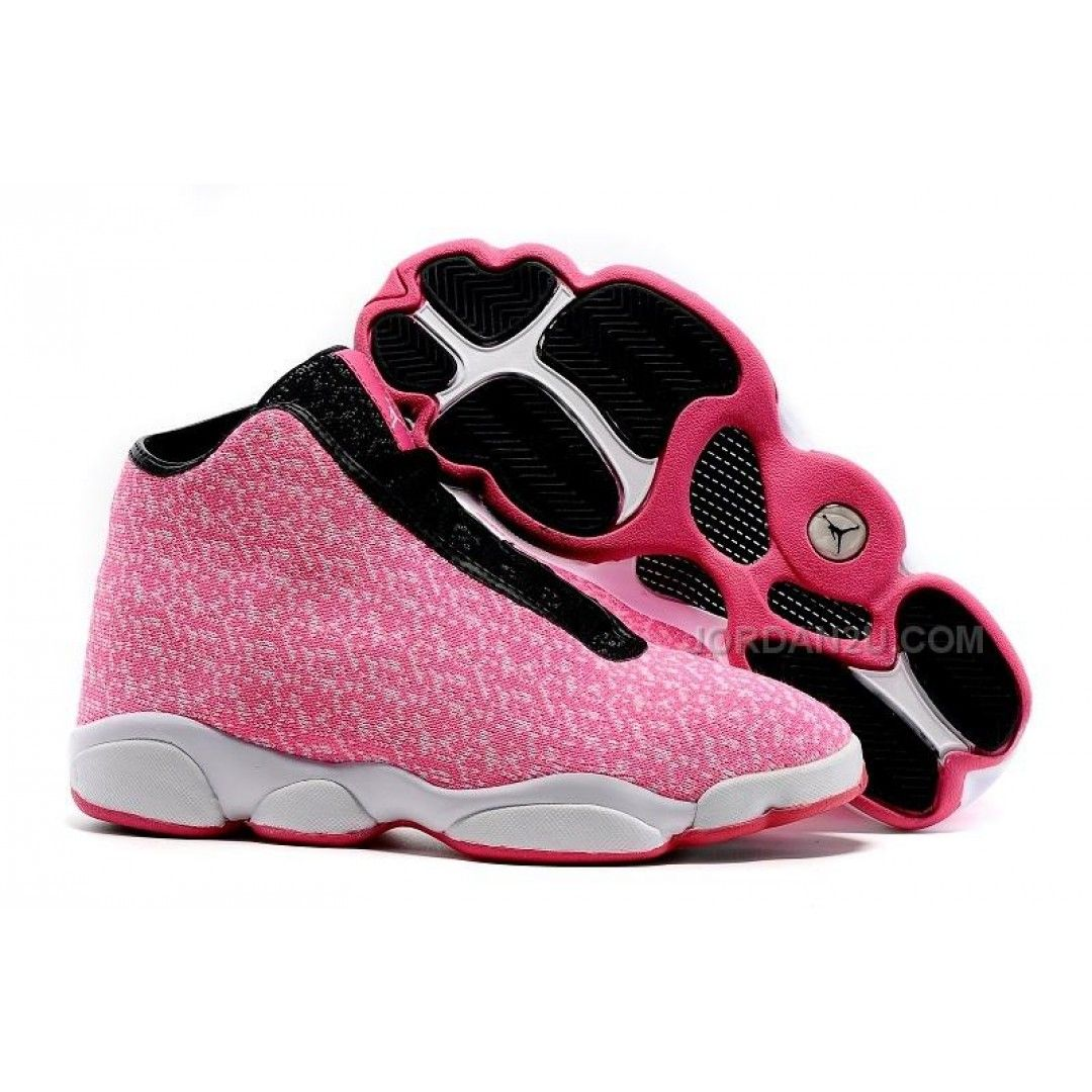 47821132853f Women Air Jordan 13 Pink Horizon Sneakers