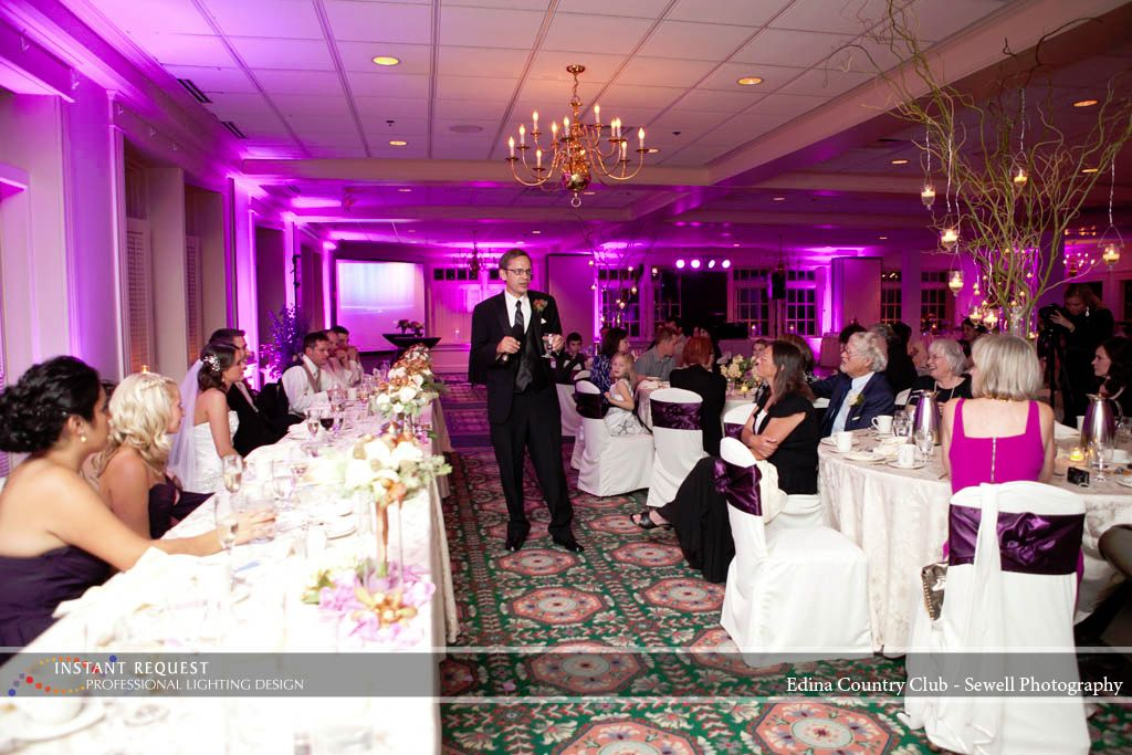 Wedding Uplighting At The Edina Country Club