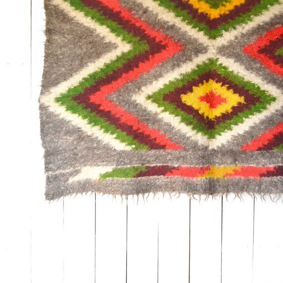 Navajo Wool Rug Vintage Native American By Storytellersvintage