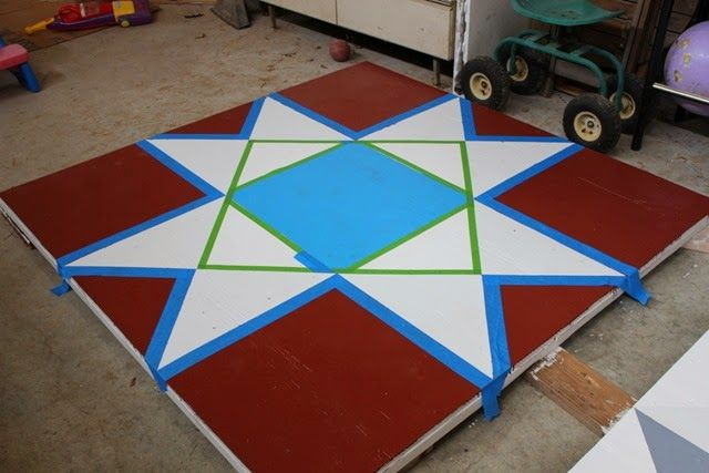 How to Make a Barn Quilt, Part 3 #barnquilt #ohiostar