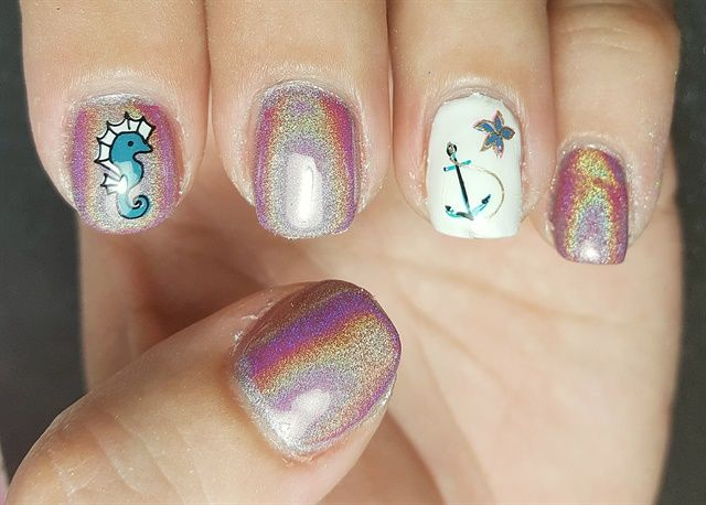 Day 89 Unicorn And Seahorse Nail Art Nails Magazine