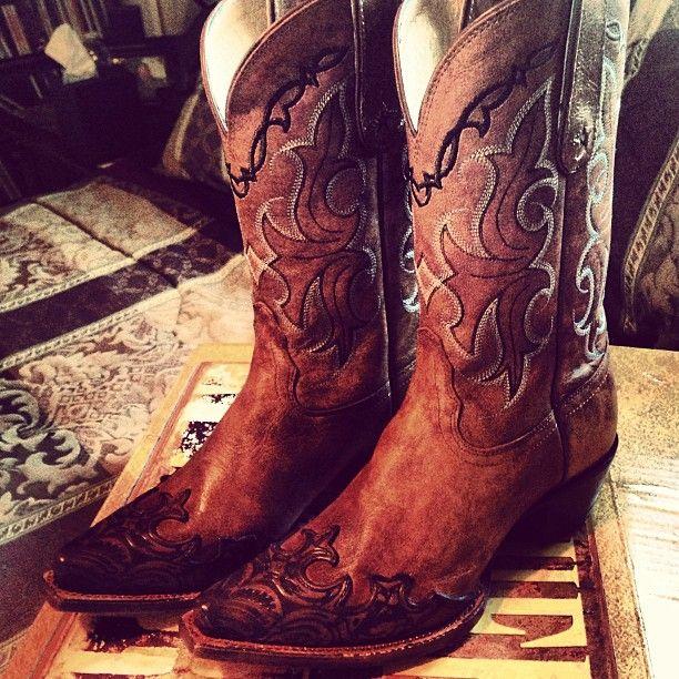 Tony Lama Vaquero Boots. :-)