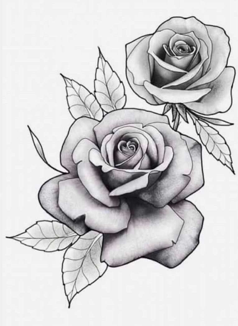 Flores Bg Rose Drawing Tattoo Rose Flower Tattoos Realistic Rose Tattoo